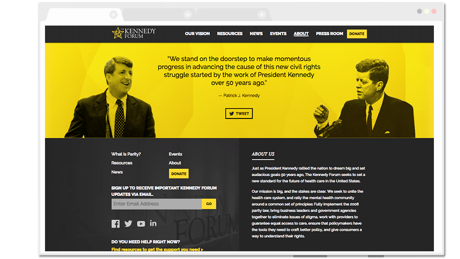 The Kennedy Forum Footer