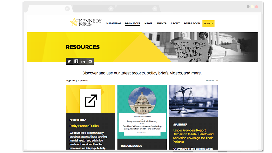 The Kennedy Forum Resources