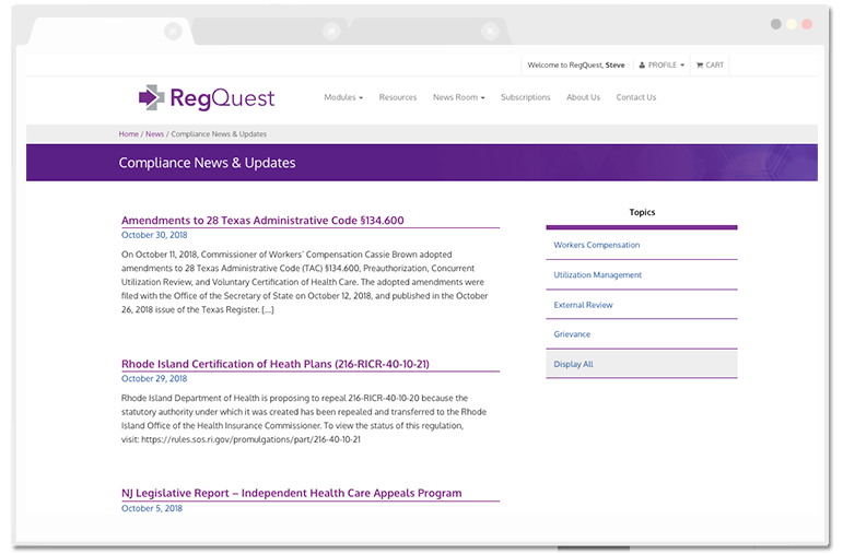 RegQuest Compliance